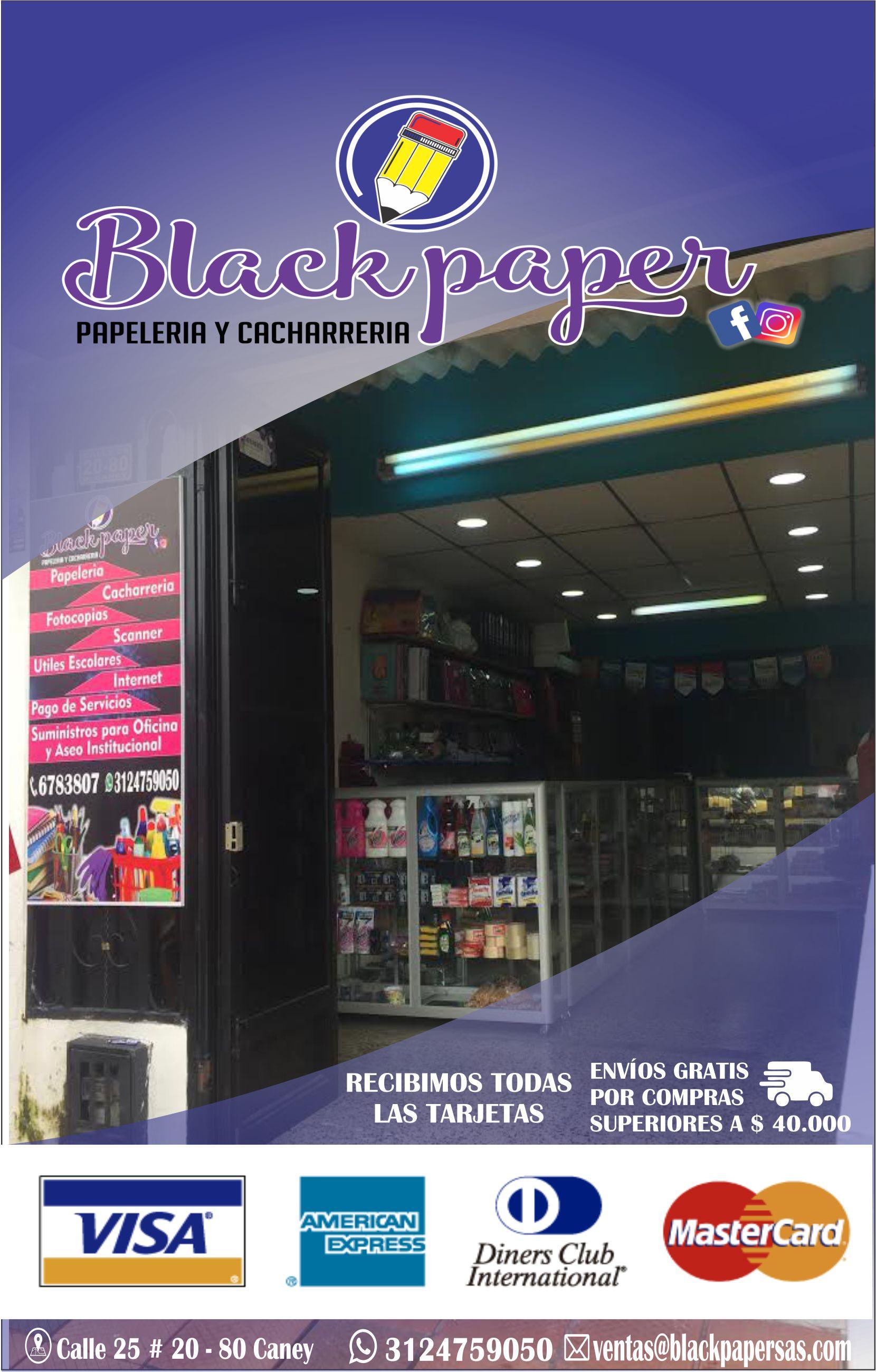 BLACK PAPER PAPELERIA Y CACHARRERIA Villavicencio