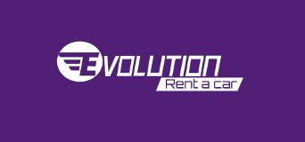Logotipo de empresa Evolution Rent a car/ Alquiler de carros en Medellin, Rionegro y Colombia