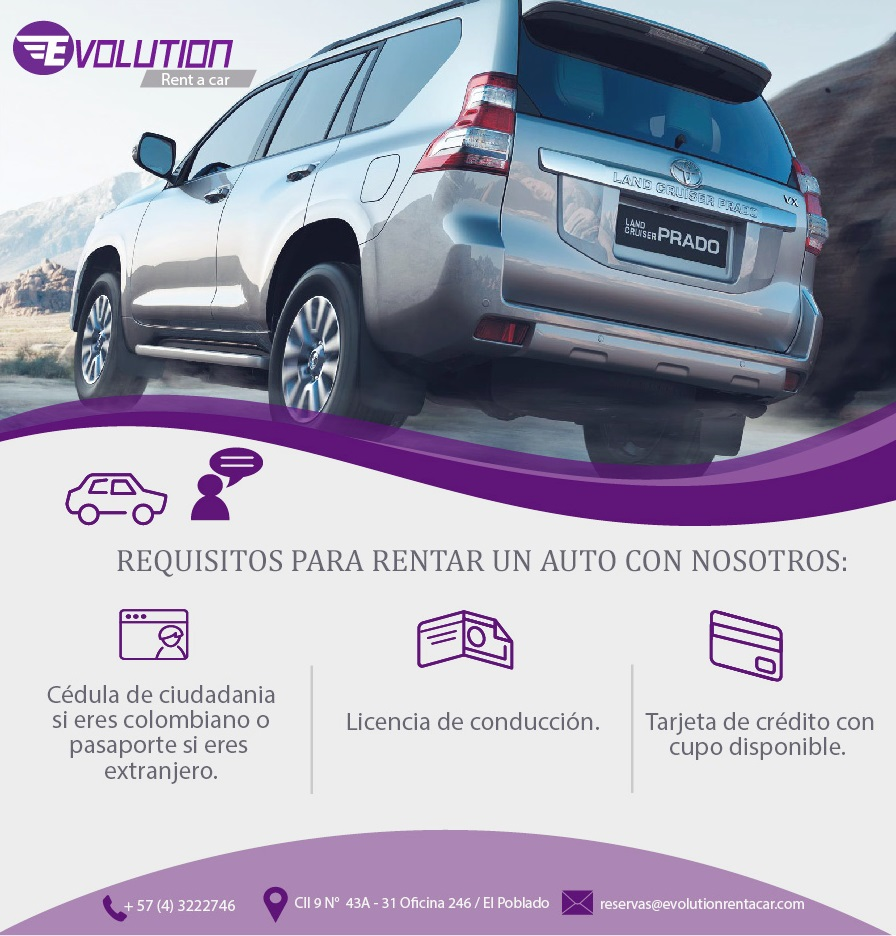 Fotos de Evolution Rent a car/ Alquiler de carros en Medellin, Rionegro y Colombia